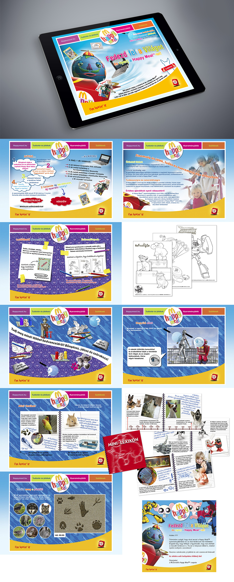 McDonalds Happy Meal microsite